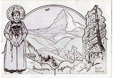Vintage 1923 Kolb's Baking Magic Pictures Card #9 - The Matterhorn, Switzerland