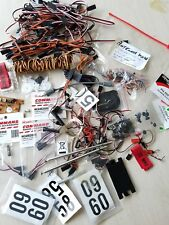 RC AIRPLANE PARTS LOT electrical wires antennas servo gears gas powered radio nr