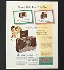 1948 Zenith Universal Radio Advertisement Color AD Trick Pop Portable Open
