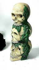 """Spooky Gothic Skull Halloween Room Decoration Party Tea light Candle Holder 13"""""""