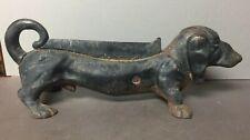 Vintage Cast Iron Dachshund Weiner Dog Boot Scraper Door Stop - Original