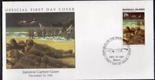 W27 1-1 HISTORY OF WWII MARSHALL ISLANDS FDC COVER 1991 JAPANESE CAPTURE GUAM