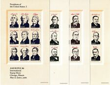 TIMBRES US AMERIPEX 86 - 35 US PRESIDENTS + WHITE HOUSE - WASHINGTON to JOHNSON