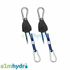More details for rope ratchet hangers x2 by carboair adjustable grow light reflector hangers