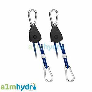 Rope Ratchet Hangers x2 By CarboAir Adjustable Grow Light Reflector Hangers