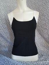 Ann Taylor Loft  black white straps sleeveless Velvet Tankini Top  sz. Reg s H1