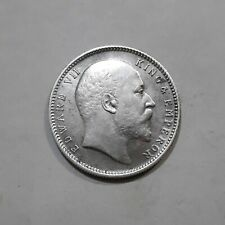 More details for british india, king edward vii, 1909, calcutta, silver rupee, 11.66 g, key date.