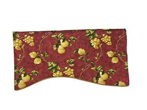 Waverly Discontinued Chianti Red Mistral Broadway Valance Curtain Rare Grapes