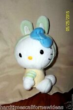 Hello Kitty Bunny Rabbit Easter Green Yellow Plush Sanrio Jakks 6""