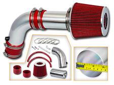 BCP RED 03-06 Accord 2.4L L4 Non-MAF DX LX EX SE Ram Air Intake Kit + Filter