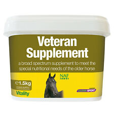 NAF Veteran Comprehensive Supplement MSM Probiotics Support Older Horses Needs