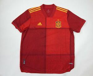 Adidas 2020-21 Spain EURO Authentic Home Soccer Jersey FI6250 Men's Size XXL 2XL