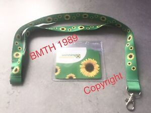 Sunflower Lanyard with Identity Card & Plastic Wallet - NEW - Hidden Disability