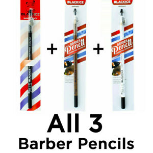 Black Ice Barber Pencil Edge Colored Tool for Hairline Black, White, Brown