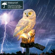 Solar Power LED Owl Lawn Light Outdoor Waterproof Garden Landscape Decor Lamp