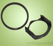 77mm 77 Adapter Ring + Filter Holder Mount for Cokin P Series - UK stock
