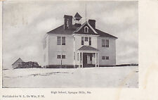 Sprague Mills, Me - High School