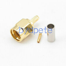 10pcs RP-SMA male RF Connector female pin crimp for RG174 RG179 RG316 Cable
