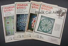 Lot of Four Canada Quilts Magazines 1981-82 Issues 37-38-39/40-41/42