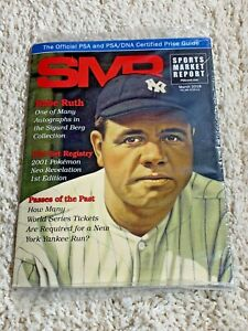 Sports Market Report Mar 2018 Official PSA/DNA Price Guide Babe Ruth SEALED