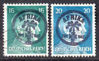GERMANY 515-516 AFRIKAKORP OVERPRINTS CDS F/VF TO VF SOUND