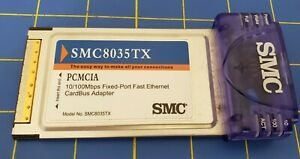 SMC 8035TX PCMCIA Ethernet Card is Adapter