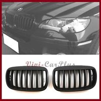 07-13 BMW E70 X5 SUV Crossover Front Kidney Grille W Big Type Hood Matte Black