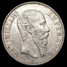 Mexico 1866 Maximilian Peso - XF with excellent strike - Mexico City Mint