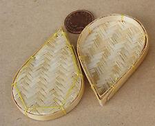 1:12 SCALA 2 a goccia forma cesti di bambù Casa delle Bambole Miniatura Accessorio Q