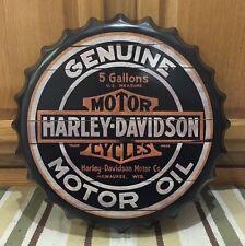Harley-Davidson Motorcycles Motor Oil Can Metal Bike Helmet Oil Vintage Look