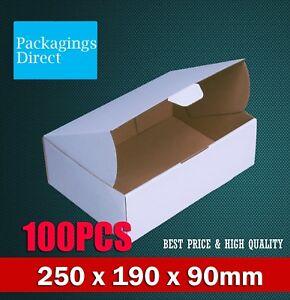 100x  Mailing Box 250 x 190 x 90mm Diecut Boxes Shipping Cardboard Carton