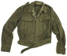 VINTAGE 1957 DATED DUTCH ARMY BRITISH WW2 STYLE BATTLEDRESS BLOUSE JACKET (AUC)