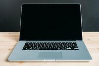 MacBook Pro 15 inch Laptop / QUAD i7 / 16GB 2TB SSD / Retina / 3 YR / MacOS2020
