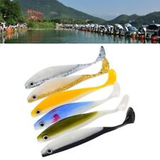 6pcs Soft Silicone Fishing Lures Fishing Tackle Bass Bait 11.5cm/11g Mixed Color