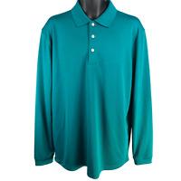 NWT Pro Tour Harbor Blue Long Sleeve Polo Golf Shirt Men's Size Large