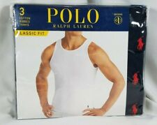 Polo Ralph Lauren 3 Classic Fit Ribbed Cotton Tanks M Black, Wicking SHIPS FREE!