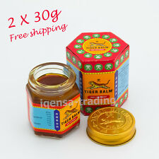 2x 30g of Tiger Red Balm Massage Ointment Relief Insect Bite Muscle Ache Pain