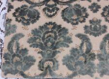 """Lovely French Antique Cut Silk Velvet Frame Sample Fabric c1880~12""""L X 26""""W"""