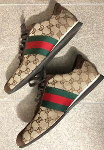 Sneakers Gucci modello Guccissima tela Uomo 42 EU 8 Uk usate pochissimo!!