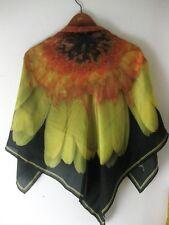 "Stunning Silk Scarf 40"" x 40"" Artisan Made Digital Flower Photo: Brilliant Color"