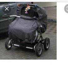 Regenschutz für Zwillingswagen Cerox EMMALJUNGA Nylon Wind/Schnee/Sturmschutz