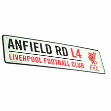 Liverpool FC Official Football 3d Embossed Metal Hanging Street Sign One Size
