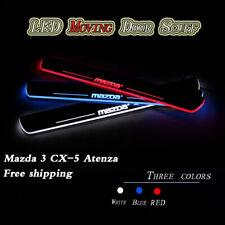 2pc Luz LED Coche Pedal de placa de desgaste alféizar de la puerta frontal para Mazda 3/6 CX-5 Atenza