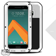 Waterproof Shockproof Metal Case Cover Pouch Gorilla Glass for HTC 10/Lifestyle