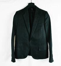 """DIOR HOMME  SS2004 """"STRIP"""" Black Blazer Jacket Suit One Button Metallic 42 44 46"""