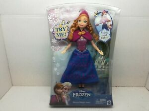 NEW Disney FROZEN Anna of Arendelle Doll Musical Magic Anna Lights Sound Y9966