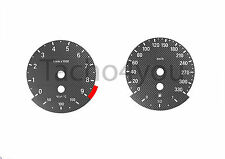 BMW Tachoscheiben für 3er E90 & 5er E60 Benziner 330 kmh km/h M3 M5 5006 Carbon