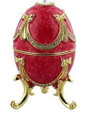 EGG, PINK,after FABERGE, JULIANA TREASURED TRINKETS GIFT, CRYSTAL STUDDED ENAMEL