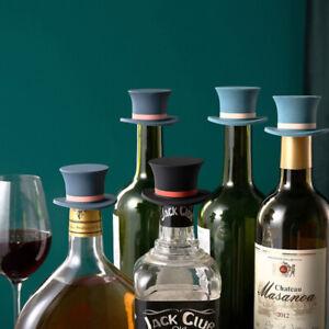 Hat Shape Wine Silicone Wine Stopper Reusable Vacuum Sealed Creative Storage R/