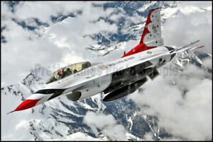 USAF F-16 Thunderbirds Aerial Refueling Rocky Mountains 2015 8x12 Photos